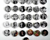 Buy 5 Get 1 FREE--Comic Pin Back Buttons Featuring The Walking Dead and Buffy the Vampire Slayer Angel Faith