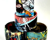 Comic Book Bracelet Featuring Star Wars and Star Trek