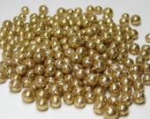 Miniature gold glitter balls foam 3mm to 6mm deco marbles 200 pcs heaping tablespoon / 15ml for mini crafts kawaii decoden tiny