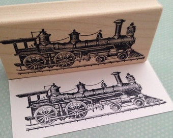 Train Engine Rubber Stamp 638