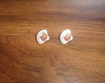 vintage clip on earrings cloisonne