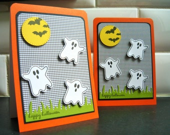 Halloween Ghost Card, Happy Halloween Greeting Card