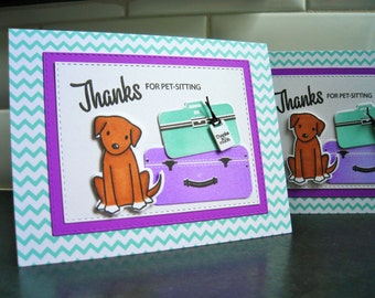 Pet Sitting Thank You Card, Dog Sitter Thank You Card, Dog Walker Card