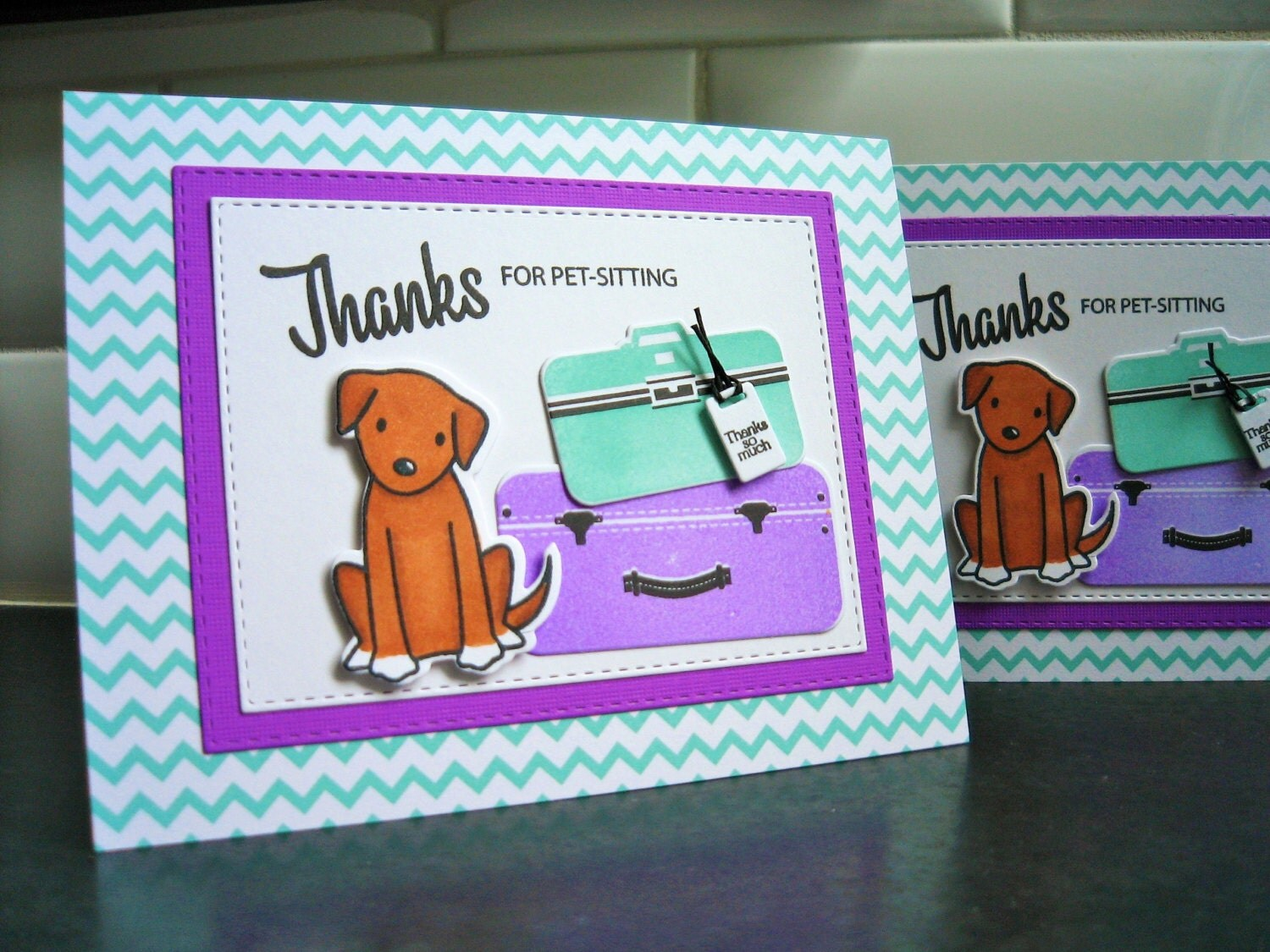 pet sitting thank you card dog sitter thank you card dog