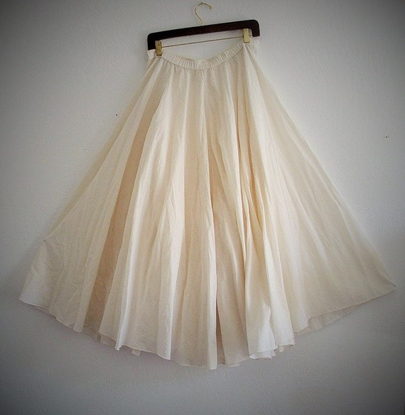 sale bohemian maxi skirt cotton white skirt ready to ship