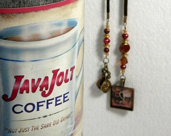 Rusted Pearl Mocha and Latte Bronze BookMark with Handmade Charm