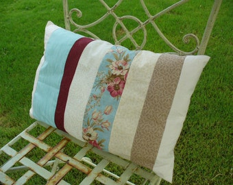 Beach Cottage Floral Pillow by WeeWoollyBurros