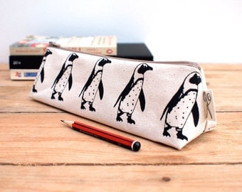 Penguin Print Pencil Case
