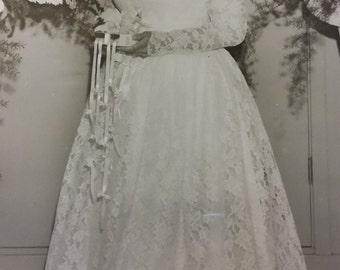 1958 Vintage Wedding Dress, Tea Length Wedding Dress, Lace Vintage Wedding Dress, Cream Wedding Dress Sale was 250.00