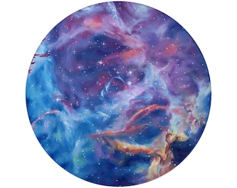 Rosette Nebula Space Print of Oil Painting