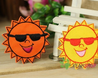 Iron on Fabric Patch - Suns - Set of 2 - FP90
