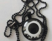 Sale was 16uk now 10uk Blacktone Bauhaus (the band) The Sky's gone out cabochon necklace blacktone ball chain.OOAK