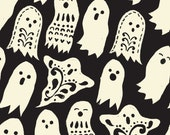 Spooktacular Eve Boo in Black, Maude Asbury, Blend Fabrics, 100% Cotton Fabric, 101.107.07.2