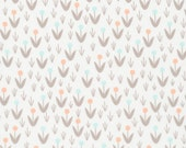 Morning Song Dotty Blooms in Ivory, Elizabeth Olwen, 100% GOTS-Certified Organic Cotton, Cloud9 Fabrics, 129700