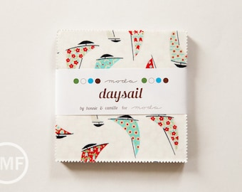 Daysail Charm Pack, Bonnie and Camille, Moda Fabrics, Pre-Cut Fabric Squares, 55100PP