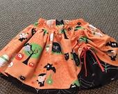 "SALE Halloween ""Boo to you"" peek-a boo skirt, size 7/8"