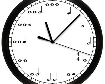Decorative Music Notes Wall Clock for Musician
