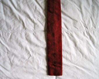Wool/Silk blend Crimson Skinny Wedge Tie