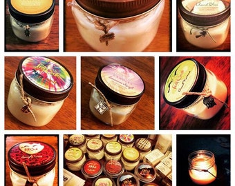 Soy Wax Scented Candles - Get 4 - 8oz Jars Scented Candles - Choose the Scent You Wish!!