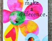 Greeting Card You Make a Difference