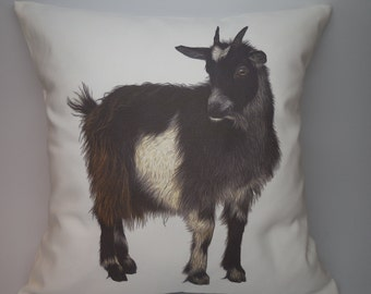 Goat canvas pillow rustic farmhouse industrial chic