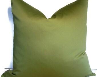 Green Pillow Cover Leaf green Pillow Solid Green Pillow  16 18 20