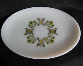 REDUCED - Vintage Mid Century Anchor Hocking Medow Green Platter