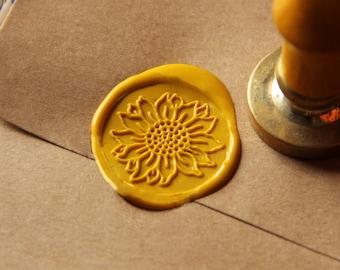 Sunflower Wax Seal Stamp/ flower Sealing Wax Seal/wedding Wax Stamp--WS016