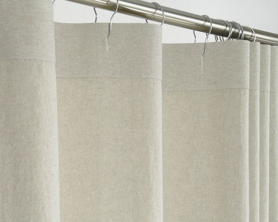 84 long beige linen shower curtain 72 x 84 long by pondlilly