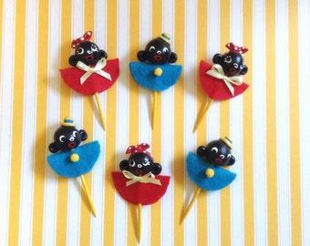 Americana Children/Folk Art Cupcake Toppers
