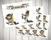 Where the Wild Things Are Cake/Cupcake Topper set