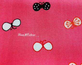 Bow knots, reddish-pink, fat quarter, pure cotton fabric