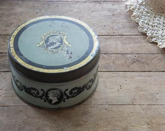 Vintage Face Powder Tin Face Makeup Compact