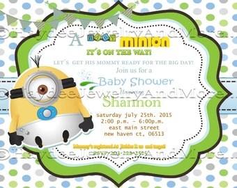 Minions Baby Shower Invitation