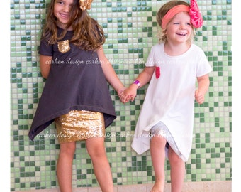 Sequin pencil skirt baby toddler girl sparkle formal party wedding circle maxi Gold Bronze Pink Silver Red Champagne Black