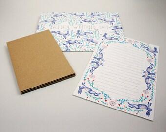 Letter Writing Set - Dancing Hares