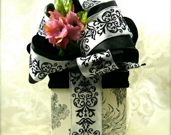 Valentine Gift Box Shabby Chic Ebony and Ivory Gift Ideas Birthday Gift Box Sophisticated Gift Box Gift Ideas Gift Box Wedding Gift Box