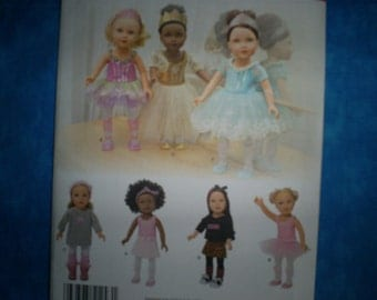 simplicity 1243 for 18 inch doll clothes.
