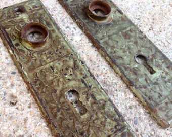 Antique Door Knob and Keyhole Covers - Set of 2