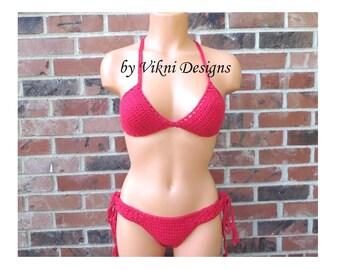 Brazilian Cheeky Bikini, Crochet Bikini Sets by Vikni Designs