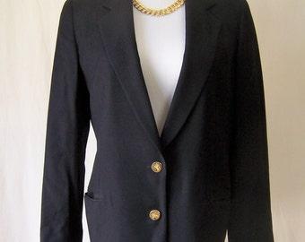 BURBERRY Classic vintage 80's black jacket blazer M/L