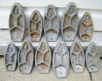Vintage Shoe Cobbler Form Molds Steampunk Assemblage Mixed Media Art Repurpose
