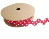 Christmas ribbon ric rac spotty trim ribbon polka dot fabric zig zag wavy craft ribbon by the yard