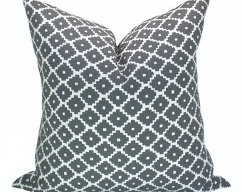 Ziggurat pillow cover in Charcoal