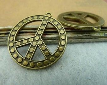 10pcs 26mm  peace symbols  Charm Pendant