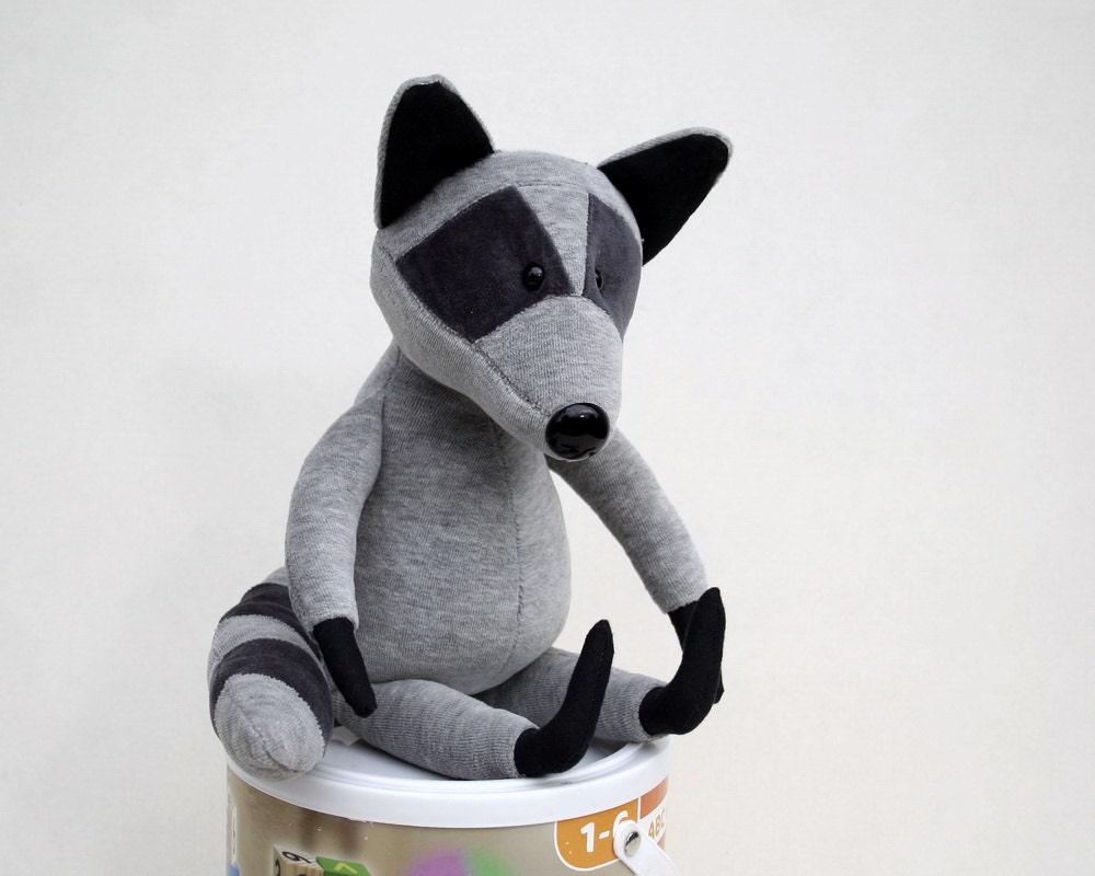 Baby Raccoon cuddly plush toy, cute soft animal plushie