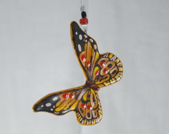 Butterfly Glass Ornament