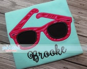 Sunglasses Applique Design Machine Embroidery INSTANT DOWNLOAD