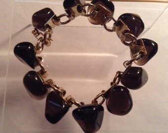 Vintage Black Stone Bracelet