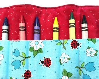 Ladybugs Crayon Roll